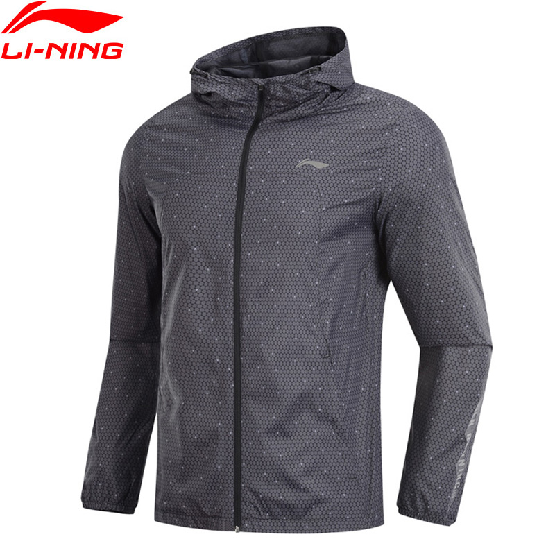 Li Ning Men Running Series Windbreakers FC FREE PROOF Waterproof 100 Polyester Regular Fit LiNing Sports