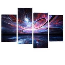 Abstract Space Wall Art Decor Fancy Light Design Artwork Wall Decor Large Modern Giclee Canvas Prints Home Decor Unframed