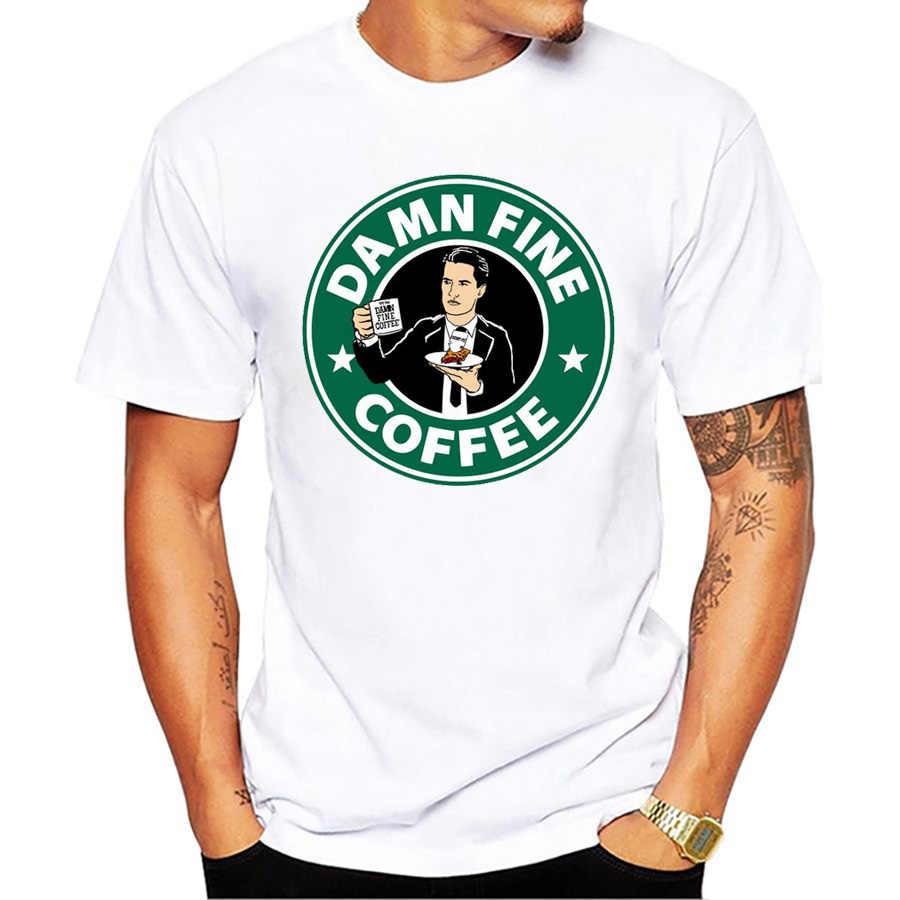 ツインピーク男性 tシャツレトロローラパーマー火災ウォーク私と男性プリント tシャツ tシャツくそ罰金コーヒーデールクーパー mr jackpots