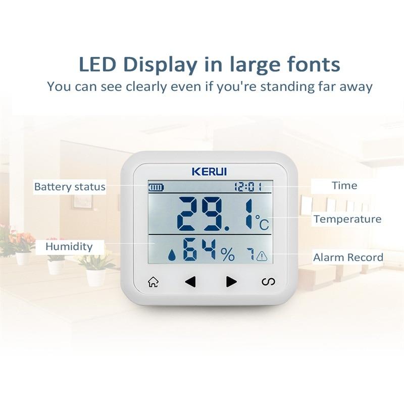 KERUI TD32 LED-skjerm Justerbar temperatur og fuktighet Alarmsensor - Sikkerhet og beskyttelse - Bilde 4