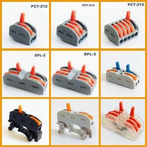 Image 1 - Novo tipo plug in conector de fio conector de cabo de alimentação 3 pinos conector de fio terminal eletrônico teriminal bloco conexão