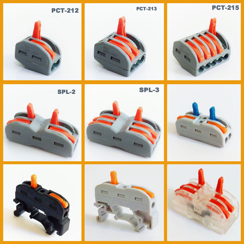 new type plug in wire connector power cable connector 3pins wire connector terminal electronic teriminal block connection-in Connectors from Lights & Lighting