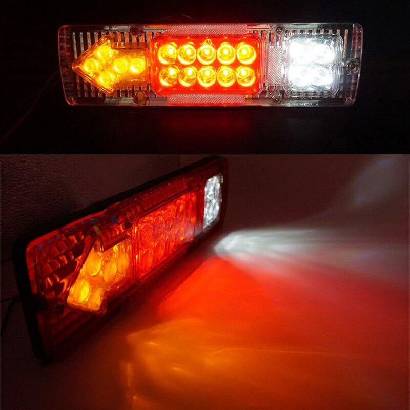 Цельнокроеное платье 12V 19-светодиодный автомобильный прицеп грузовик задний светильник тормоз заднего хода Водонепроницаемый грузовик с п...