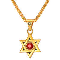 Star Of David Pendent Women Men Jewelry Stainless Steel 18k Gold Plated Pendent Necklace Unisex Jewelry