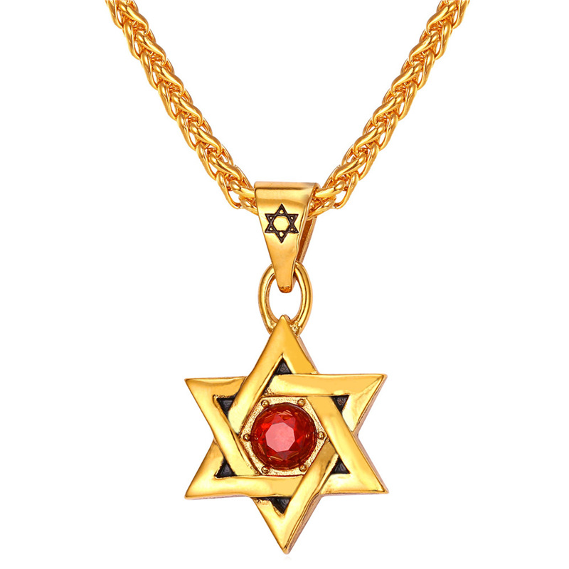 Star of david pendant women men jewelry stainless steel for Star of david jewelry wholesale