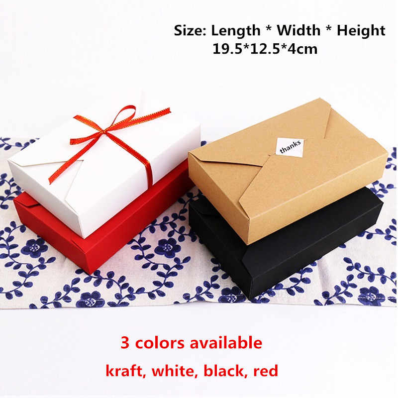 Awe Inspiring 20Pcs 19 5 12 5 4Cm Kraft Paper Box Black White Red Cake Cookie Funny Birthday Cards Online Bapapcheapnameinfo