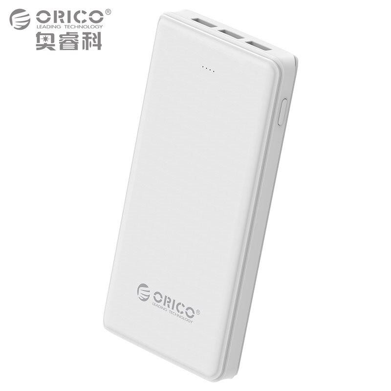 imágenes para ORICO 20000 mAh 3 Banco de Alimentación USB Batería Externa de Reserva Portable Móvil Del Cargador Del Banco para Android iphone con Linterna-blanco