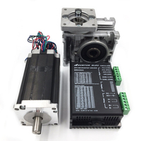 2ph 60Nm Stepper Motor Nema23 L112mm Worm Gearbox Ratio 20:1 DC24 50V Stepper Driver CNC Router Kit