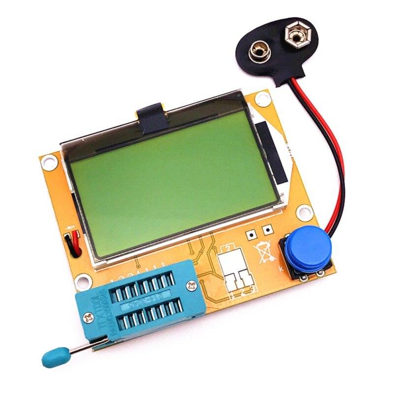 ЖК-цифровой тестер транзисторов LCR-T4 подсветка диодный Триод Емкость транзистор измеритель ESR для MOSFET/JFET/PNP/NPN L/C