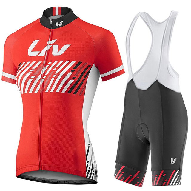 2017 Cycling Jersey Pro team LIV Short sleeve Roupa Ciclismo Red Cycling  Sportswear breathable Bike Cycling 87e254161