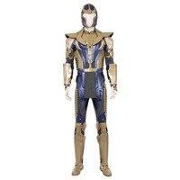 Мстители Бесконечность войны Косплэй костюм для взрослых Для мужчин танос костюмы Полное костюмы на Хэллоуин Карнавальный Костюмы для кос