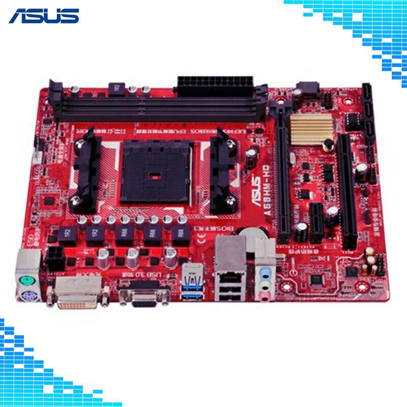 Asus A68HM-HQ Desktop Motherboard AMD A68H Chipset Socket FM2/FM2+ Micro ATX
