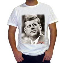 GILDAN T Shirts Casual Brand Clothing Cotton Jfk John Fitzgerald Kennedy Men's T-shirt Celebrity Star One In The City