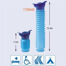 40 ^ qualidade 750 ml portátil adulto mictório viagem ao ar livre de acampamento urina urina urina urina do carro xixi higiênico macio ajuda das mulheres dos homens toalete