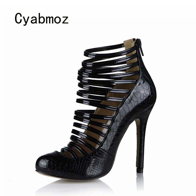 Cyabmoz New Women Ankle Boots High Heels Shoes Woman Sexy Serpentine Party Dress Shoes Zapatillas Botas Zapatos Mujer Plus Size