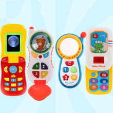 Electronic Toy Phone For Kids Baby Mobile elephone Educational Learning Toys Music Machine fun games Toys For Children(China)