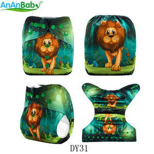 Image 3 - AnAnBaby 5pcs Choose Freely Position Printed Pocket Baby Nappies Reusable Washable With Inserts