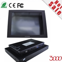 2017 Panel Computer Hmi 10 Metal Casing Vga Hdmi Usb Input Resistive Touch Screen Waterproof Open Frame Industrial Monitor
