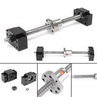 12mm Rolled Ballscrew SFU1204 Anti Backlask Ball Screw Lead Length 250mm End Machining BF BK10 For