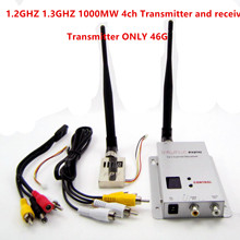 TX Only 44g FPV 1.2G 1.3G 1000mW 4Ch Wireless Transmitter 12 Channel Receiver Professional Kit for RC Drone Multicopter QAV250