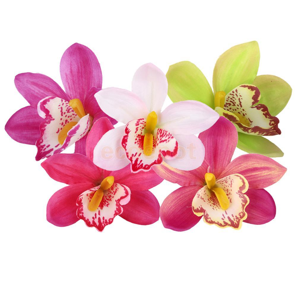 20 штук 11 см искусственного шелка Орхидея Дендробиум Цветок Heads DIY Декор