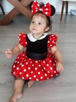Baby Infant First Birthday Dress Children Custume Wear Little Toddler Girl Easter Dresses Red Black Tea