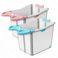 Baby Foldable Tub Baby Child Bath Tub Can Sit Lie Swimming Plus Large Size Household
