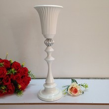 49cm /19.2″ Wedding Flower Vase White Table Stand for Wedding Table Centerpiece 10pcs/lot