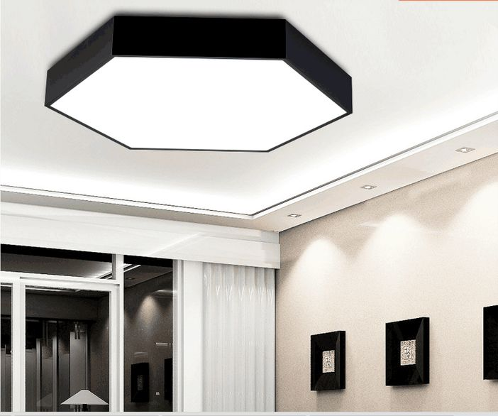 Plafoniera Led Modern Ceiling Light Plafon LED Dining Room Iluminacion Interior LED Ceiling Light Plafoniera White  Black adidas пальто