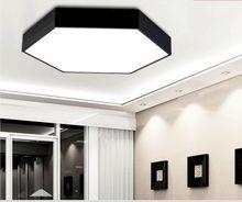 Plafoniera Led Современные Потолочные Свет Plafon LED Столовая Iluminacion Интерьер СВЕТОДИОДНЫЙ Потолочный Свет Plafoniera Белый Черный