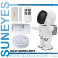 SunEyes SP-S905WA-DRPS 1.3MP HD Wireless Wifi Alarm Robot IP Camera with 1pcs Door Sensor+Remote Control+PIR Sensor+Smoke Sensor