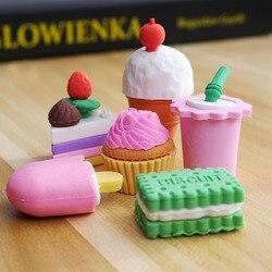 Ластик резиновые Канцелярские товары новые формы торта креативные милые школьные принадлежности для детей канцелярские подарки