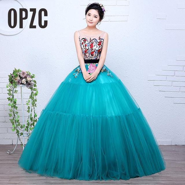 New design Princess girls for Paty dress Solo Stage Colored Yarn Dress  Evening Female Art Exam Performance Vestidos De Novia 85149c4514cb