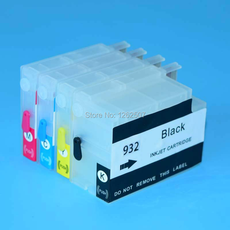 Printer ink cartridge for hp 932 933 refill ink cartridge and pigment ink for hp 932xl 933xl 7110 7610 6600 printers hp 932xl cn053ae