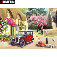 HOMFUN 5D DIY Diamond Painting Full Square/Round Drill House scenery Embroidery Cross Stitch gift Home Decor Gift A08323 homfun 5d diy diamond painting full square round drill house scenery embroidery cross stitch gift home decor gift a08417