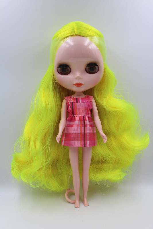 Special sale doll yellow hair Blygirl Blyth doll normal body 7 joint nude doll DIY doll normal skin палатка normal нева 4 yellow