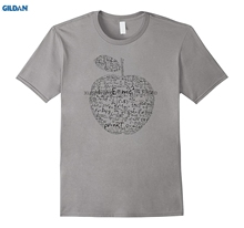 GILDAN 100% Cotton O-neck printed T-shirt Equation TShirt Newton Einstein  Funny