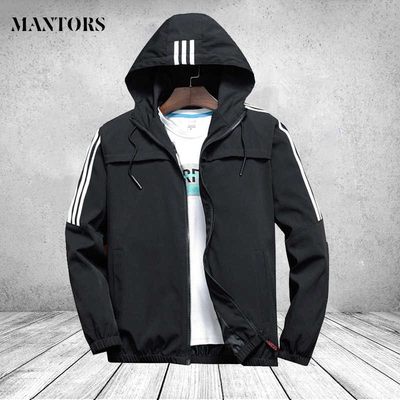 Casual heren windbreaker bomberjack 2019 Army Black Mannen Hip Hop Slim Fit Gestreepte Pilot Jas Mannen Hooded Jassen homens jaqueta