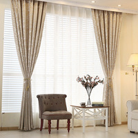 2016 New Curtains For Living Dining Room Bedroom Colorful Leaf Language Simple Modern Chenille Jacquard Curtain