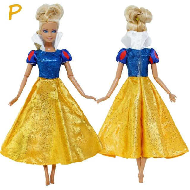 Doll Accessories Classic Dress Copy Snow White Princess for Vintage Retro Fairy Tale Party Ball Gown Clothes for Barbie Doll Toy | Dolls & Stuffed Toys