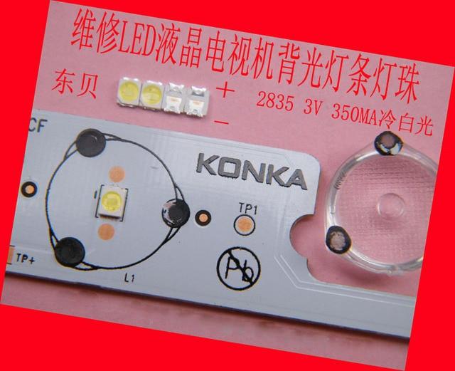 200piece/lot for repair Konka Changhong Hisense LCD TV LED backlight SMD LEDs 3V 2835 Cold white light emitting diode