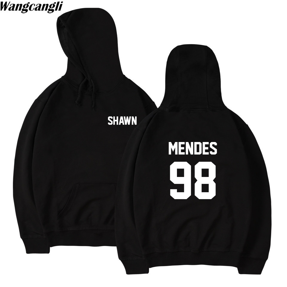 2019 Spring Harajuku Sweatshirt Hoodie Shawn Mendes 98 Letters Printed Jacket Coat Casual Pullover Hoodies Moleton Feminino sweatshirt