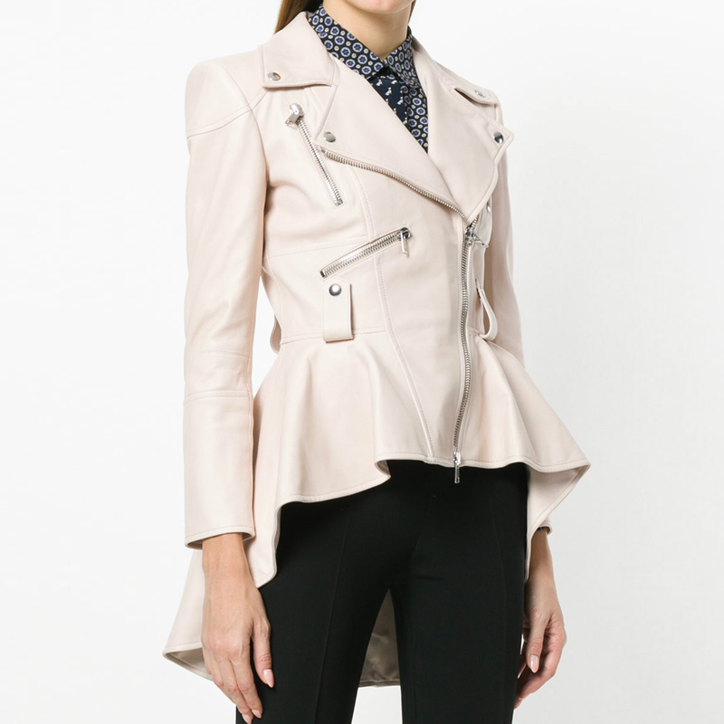 YNZZU Irregular Long PU   Leather   Coat Women   Leather   Jacket 2018 Autumn Motor Slim Womens Jackets And Coats Outerwear YO599