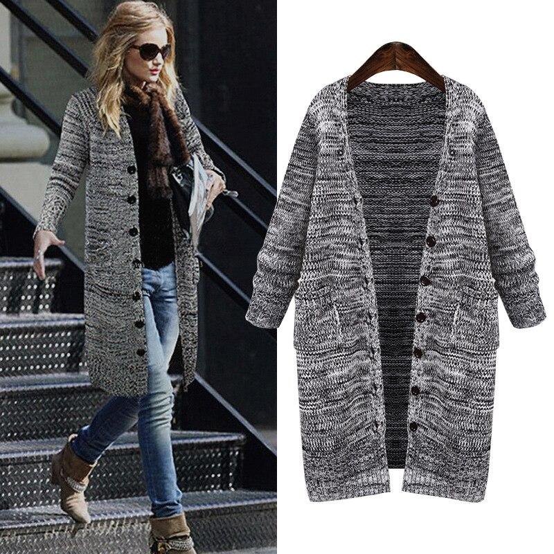 L 5XL Plus Size Sweater 2019 Autumn Winter The New Fashion Loose Cardigan Thickening Knitting Elegant