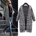 L-5XL плюс размер свитер 2016 осень зима новая мода свободно кардиган утолщение вязание элегантные повседневные женские свитера