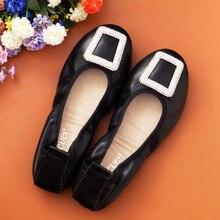 Soft Genuine Leather Shoes font b Women b font Slip On font b Woman b font