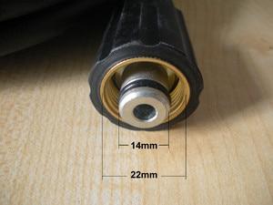Image 2 - 15 Mt Auto waschschlauch fit Karcher K5 stecker 400Bar 5800PSI, M22 * 1,5*14mm, hochdruckreiniger schlauch