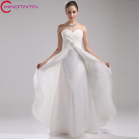 Sweetheart Ivory Wedding Gown Beach Style Organza Marriage Dress Bride Competitive Price Dropshipping Gown
