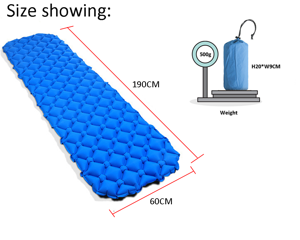 Air Mattress Sleeping Pad Camping Mat Ultralight TPU Outdoor Inflatable Bed Portable Blanket Moistureproof Pad for Tent цена 2017