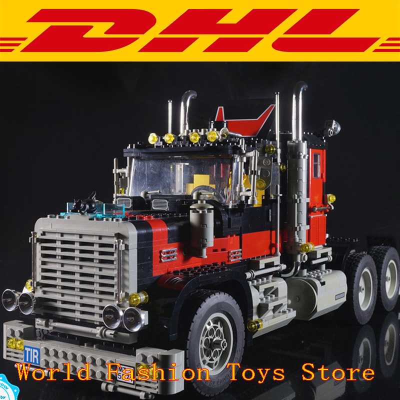 Hot in stock 21015 New 1743Pcs The giant American container car Building Blcoks Bricks Toys Compatible with 5571 hot in stock s29gl512n10tfi02